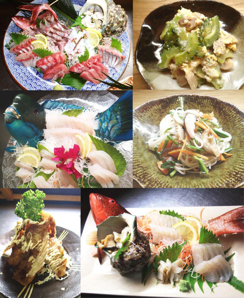 加計呂麻島ダイビング&ペンションRIKI。料理
